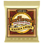 Ernie Ball P02006 Earthwood Extra Light 80/20 Bronze Acoustic Guitar Strings - 10-50 Gauge